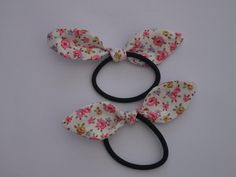 Cath Kidston Fabric Bow Tie Ponytail Holders by MakerMadeMe on Etsy