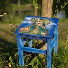 Stolička+Ručně+malovana+stolička