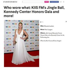 "Press review taken from Aol.com about last night at #KennedyCenterHonorGala #MirandaLambert wearing Peter Langner ""Agata"" gown."