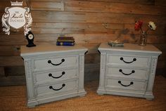 Matching Three Drawer Night Stands