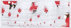 『永続する一瞬 a2』 アクリル絵具・トレーシングペーパー 46cm×117cm