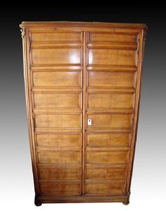 Early / Tall 20th C. Italian Wood Coin Cabinet, ex-King - 6