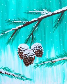 Browse our upcoming painting classes and events at Fort Collins Pinot's Palette! Reserve your seat for the best paint and sip experience today! Winter Painting, Winter Art, Winter Snow, Winter Ideas, Wine And Canvas, Christmas Paintings On Canvas, Paint And Sip, Easy Paintings, Paintings Online
