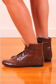 Soft and flexible leather ankle boots by Golden Ponies
