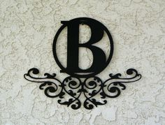 Personalized Family Monogram Metal Sign  Custom by CandGMetalArt