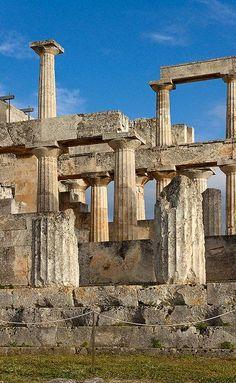 Temple of Aphaea, Aegina island, Greece, 6th century BC.