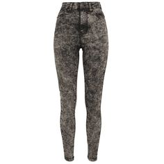 Dames skinny spijkerbroek jeans met hoge taille stone wash zwart