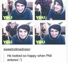 Scientific fact: when ever Daniel howel is with Phillip lester he is indeed more happier