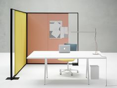 Meety table, Kinesit chair + Parentesit acousic panels by lievore altherr molina for Arper