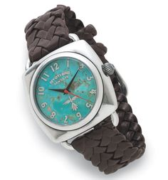 turquoise and brown western bridle watch. Gorgeous!