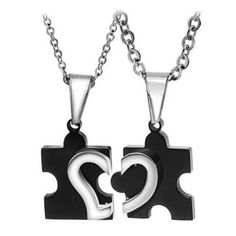 5cbfd05290be 2pcs Stainless Steel Puzzle Heart Necklace Couple Friendship Best Friend  Jewelry  Unbranded  Pendant Cadenas