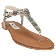 Steve Madden Beaminng Rhinestone T-Strap Sandal #VonMaur
