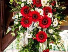 Svatební aranžmá k č. 54 Floral Wreath, Wreaths, Plants, Decor, Floral Crown, Decoration, Door Wreaths, Deco Mesh Wreaths, Plant