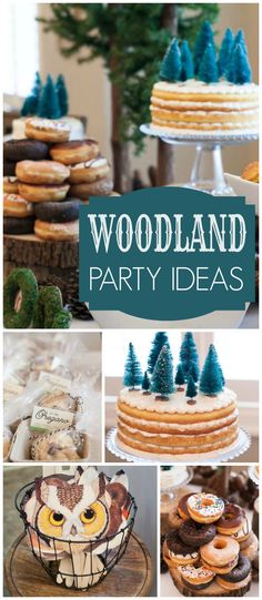 You have to see this lovely woodland party! It's for a first birthday! See more party ideas at CatchMyParty.com!