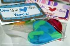 Valentine Crafts: Free Printable for Heart Crayon Valentines