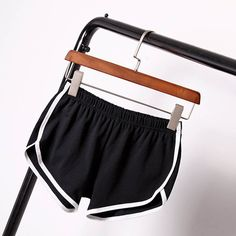 Sports Shorts Pants Gym Workout Waistband Skinny Yoga Short