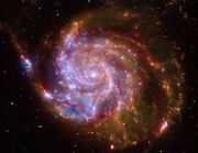 """M101 Hubble Spiral Galaxy poster to decorate the room, representing science and reason. Sessions on """"The Big Bang"""" and """"Maria's Comet."""""""