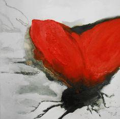 Mohnblüte, abstrakter Mohn, abstrakte Malerei, 80/80 cm