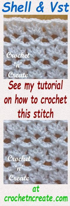 Crochet shell and vs