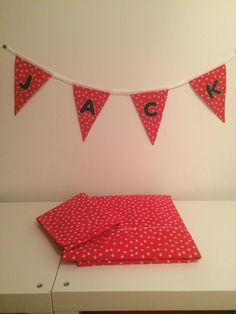Personalised bunting and matching childs duvet set