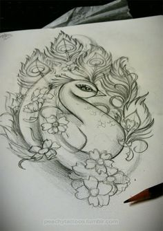 Peacock tattoo idea, not sure if this would actually make it somewhere on my body, but I do like the look.