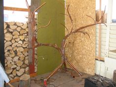 The making of. Wire Trees, Art Forms, Outdoor Structures, Projects, Painting, Plus Size, Log Projects, Painting Art, Paintings