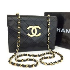 24c1a14d397cca Vintage CHANEL Quilted Matelasse CC Logo Lambskin Chain Shoulder Bag /n265  Chanel Double Flap,