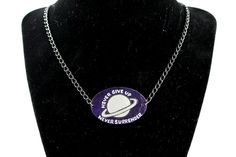 Never Surrender Necklace by ugeekdesigns on Etsy