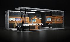 Nef // Dubai Cityscape Exhibition on Behance Kiosk Design, Display Design, Retail Design, Exhibition Stall Design, Exhibition Display, Exhibition Stands, Exhibit Design, Exhibition Ideas, Web Banner Design