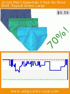 2(x)ist Men's Essentials 3 Pack No Show Brief, Tropical Green, Large (Apparel). Drop 70%! Current price $9.59, the previous price was $32.00. http://www.adquisitio-usa.com/2xist/mens-essentials-3-pack-no