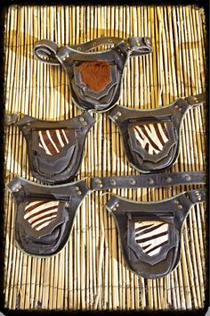 SALE 20% Leather hip belt with real fur  Hip purse  door Kalbelia