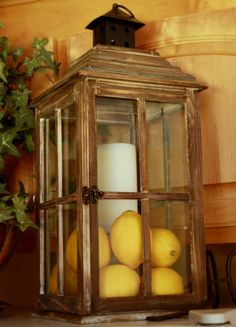 ~ lantern...I have this same exact lantern on my breakfast bar.