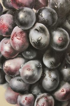 How to paint grapes, Purpose of hard and soft edges in oil painting.