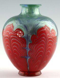 Loetz glass vase, Titania Genre 6388 - 1909
