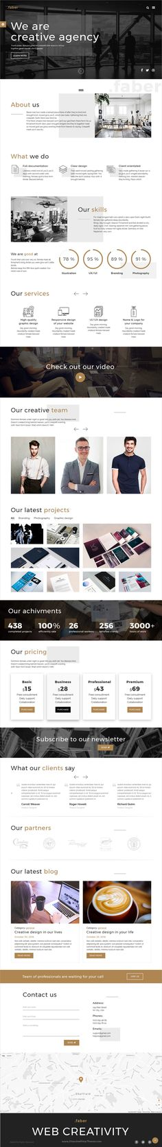 Faver is a wonderful responsive #HTML5 #bootstrap template for creative #agencies websites download now➩   https://themeforest.net/item/faber-creative-agency-responsive-site-template/19281714?ref=Datasata