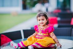 The latest Pattu Pavadai designs for the kids