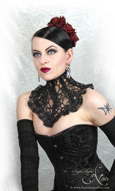 Decadent Designs Neck Corset - Goth Fashion