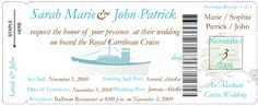 Cruise Ship Wedding Invitations   The Wedding Specialists