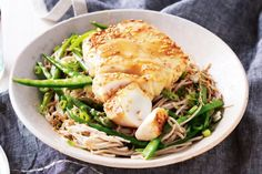 Selecting The Suitable Cheeses To Go Together With Your Oregon Wine Miso-Glazed Fish With Soba Noodles Best Fish Recipes, Whole30 Fish Recipes, Fried Fish Recipes, Barbecue Recipes, Seafood Recipes, Cooking Recipes, Healthy Recipes, Savoury Recipes, Noodle Recipes