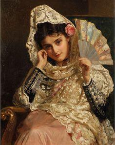 "John Bagnold Burgess (English artist, 1829-1897) - ""Feliciana, a Spanish Beauty"" (also known as ""Feliciana, Spanish Gypsy""), 1876"