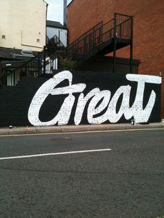 GREAT black walls, graphic designers, graffiti, font, street art, graphics, the great, typographi, streetart