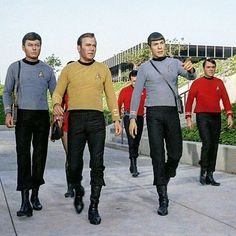 McCoy, Kirk, Spock and Scotty