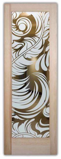 These glass front doors are hand-crafted, sandblast frosted. Available in 8 woods as a slab door or prehung in the jamb in any size, or as glass insert only (if you already have your door). Inside our fun, easy to use online Door Designer at sanssoucie.com, you'll get instant pricing on everything as YOU customize your door and the glass! When you're all finished designing, you can place your order right there online!