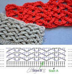 La cinta acostillada de la Gaviota en redondo | Crochet by Ellej | la Labor de punto por el gancho de Elena Kozhuhar