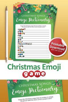 Printable Christmas Games, Emoji Games, Have Some Fun