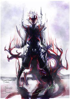 """Black Centipede"" Kaneki Ken Tokyo Ghoul credits to the artist! Manga Anime, Anime Art, Kakuja Tokyo Ghoul, Kamigami No Asobi, Tokyo Ghoul Wallpapers, Dark Anime, Kaito, Anime Comics, Marvel Comics"