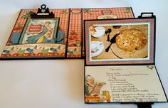 Hi everyone :-)   Have made mini album for my cake and dinner recipes and used the wonderful Home Sweet Home collection from Graphic 45. Th...
