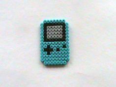Blue GameBoy Color Perler Bead Sprite