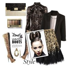 """""""Leopard beauty"""" by carleen1978 ❤ liked on Polyvore featuring Luichiny, Dolce&Gabbana, Matthew Williamson, Dorothy Perkins, Belle Noel by Kim Kardashian, Max Factor and WALL"""