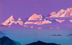 Рерих Н.. Гималаи. Розовые горы. 1933